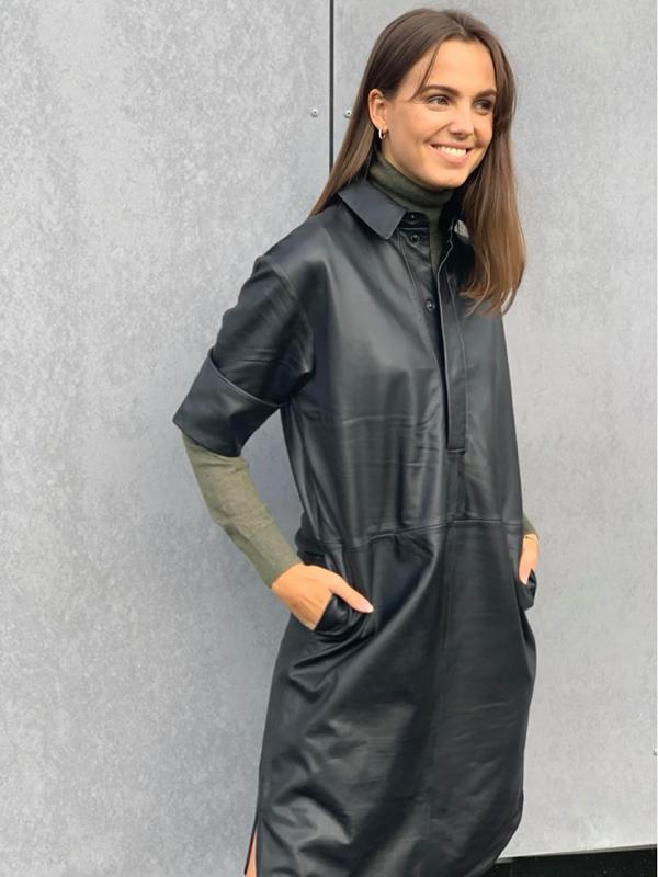 Second Female Indie Dress sort Frøken Pedersen
