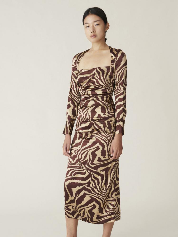 Silk Stretch Satin Dress