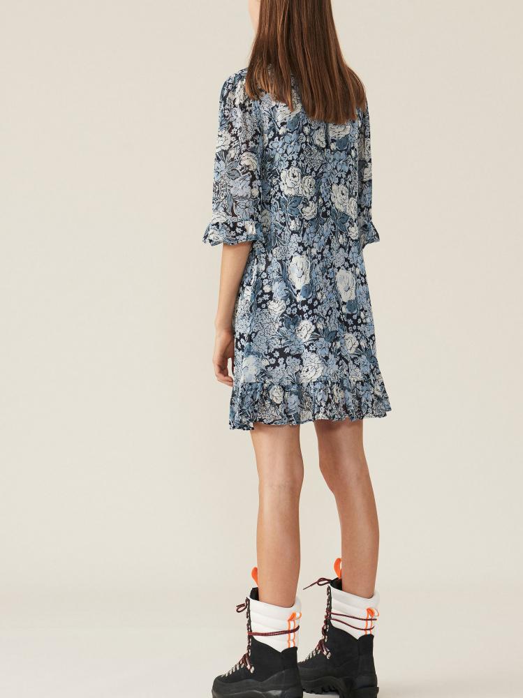 a04096ca Ganni Printed Georgette Dress Heather; Ganni Printed Georgette Dress  Heather ...